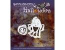 """Yvonne Creations Perforación y la máscara de relieve, Halloween """"cesta de la calabaza"""""""