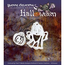 """Ponsen en embossing masker, Halloween """"Mand van de Pompoen"""""""