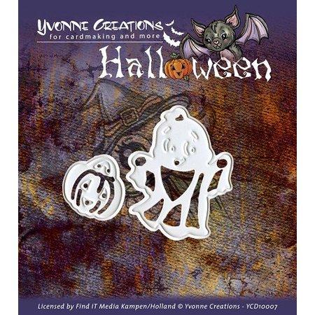 """Yvonne Creations Stansning og prægning maske, Halloween """"Pumpkin Basket"""""""