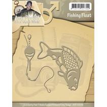 Stempling og prægning stencil, Dens en Mans World - Fishing Float