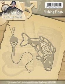 Amy Design Stamping and Embossing stencil, Its a Mans World - Fishing Float