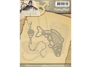 Amy Design Stempling og prægning stencil, Dens en Mans World - Fishing Float
