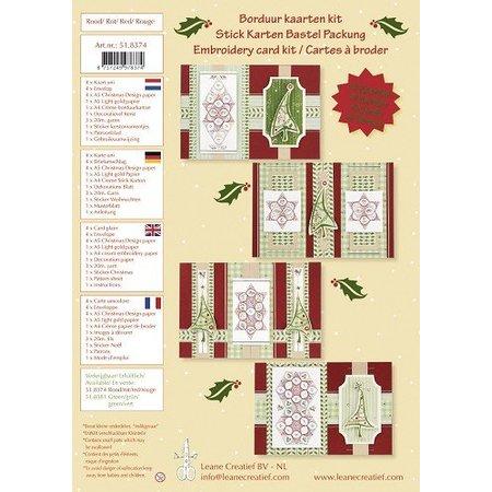KARTEN und Zubehör / Cards Bastelset, Stick Karten Bastel Packung