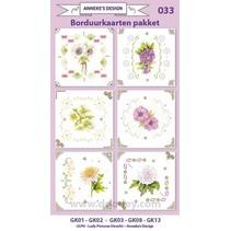 Stickkarten Bastelset, zur Gestaltung von 6 Karten