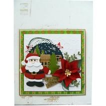 Troquelado y estampado plantilla, coleccionables, Santa Claus