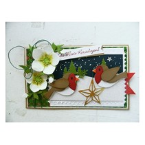 Stamping and Embossing stencil, Collectables, birds with star and branch