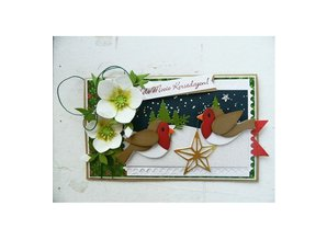 Marianne Design Stamping and Embossing stencil, Collectables, birds with star and branch