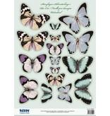 Embellishments / Verzierungen 2 die cut plade, med mere end 30 sommerfugle