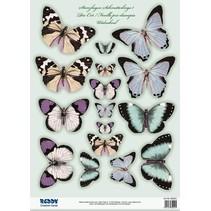 2 Stanzbogen, mit über 30 Schmetterlinge
