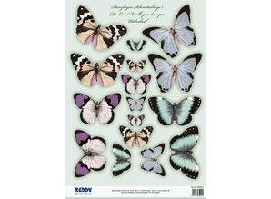 Embellishments / Verzierungen 2 morir hojas sueltas, con más de 30 mariposas