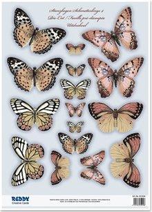 Embellishments / Verzierungen 2 morire fogli singoli, con più di 30 farfalle