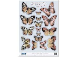 Embellishments / Verzierungen 2 die cut sheet, with more than 30 butterflies