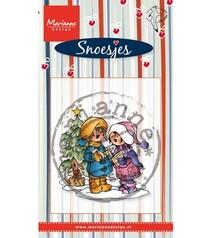 Stempel / Stamp: Transparent Gennemsigtig frimærker Marianne design, Singing Snoesjes
