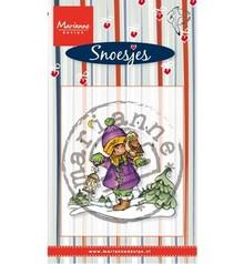 Stempel / Stamp: Transparent Gennemsigtige frimærker Marianne design, Snoesjes i sneen