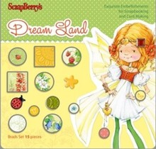 Embellishments / Verzierungen Set Of Brads 15 Stück, Dream Land