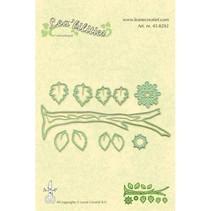 Stanz-und Prägeschablone, Zweig mit Blätter