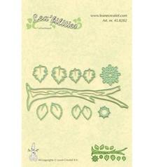 Leane Creatief - Lea'bilities Stampaggio e goffratura stencil, ramo con foglie