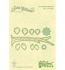 Leane Creatief - Lea'bilities Stamping and embossing stencil, branch with leaves