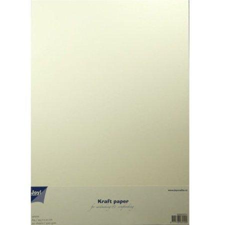 BASTELZUBEHÖR / CRAFT ACCESSORIES Kraft A4 in white, 20 sheets