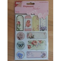 10 chipboard stickers, 2mm thick