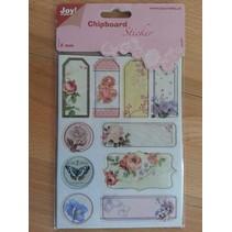 10 spaanplaat stickers, 2mm dik