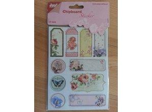Joy!Crafts und JM Creation 10 chipboard stickers, 2mm thick