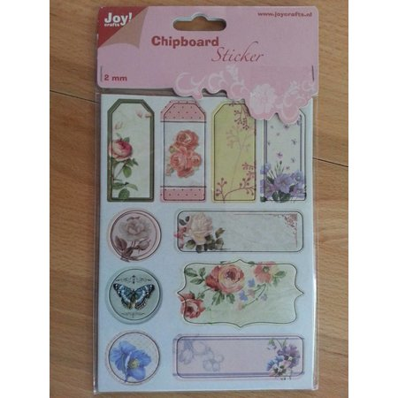 Joy!Crafts und JM Creation 10 Chipboards Sticker, 2mm dick