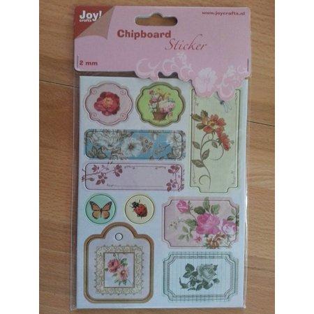 Joy!Crafts und JM Creation 10 spaanplaat stickers, 2mm dik