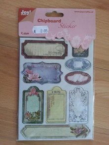 Joy!Crafts und JM Creation 10 adesivi truciolare, 2mm di spessore