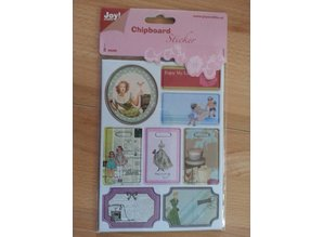 Joy!Crafts und JM Creation 10 spånplader klistermærker, 2mm tyk