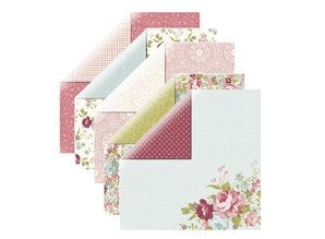 Designer Papier Scrapbooking: 30,5 x 30,5 cm Papier Diseñador de papel, rosas