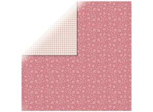 Designer Papier Scrapbooking: 30,5 x 30,5 cm Papier Carta Designer, rose