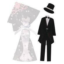 Embellishments / Verzierungen Deco Sticker: Sposa + sposo