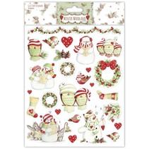 A4 Stickers Glitter, Winter Woodland, Sneeuwpoppen
