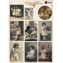 Vintage Bilder Bogen