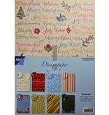 Joy!Crafts und JM Creation Diseñador Block, bloc de papel A4, Navidad
