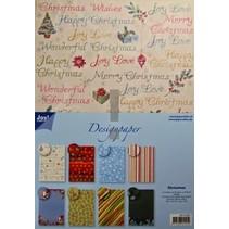 Designer Block, A4 paper pad, Christmas