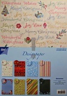 Joy!Crafts und JM Creation Designer Block, blocco A4 di carta, Natale
