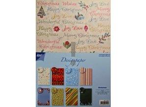 Joy!Crafts und JM Creation Designer Block, A4 paper pad, Christmas