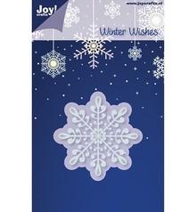 Joy!Crafts und JM Creation Stampaggio e goffratura stencil, cristalli di ghiaccio / fiocco di neve