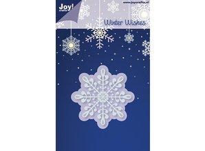 Joy!Crafts und JM Creation Stempling og prægning stencil, is krystal / snefnug
