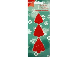 Joy!Crafts und JM Creation Stamping and embossing stencil, 3 Christmas trees