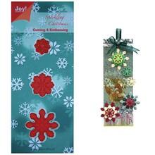 Joy!Crafts und JM Creation Stempling og prægning stencil, 3 iskrystaller