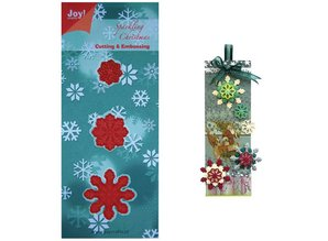 Joy!Crafts und JM Creation Stamping and Embossing stencil, 3 ice crystals