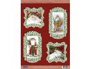 BASTELSETS / CRAFT KITS: Bastelset for 4 Christmas Cards