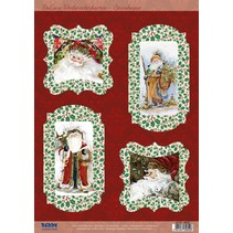 Bastelset voor 4 Kerstkaarten