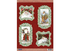 BASTELSETS / CRAFT KITS: Bastelset per 4 cartoline di Natale