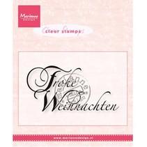 Transparent Stempel, Marianne Design, Text: Frohe Weihnachten