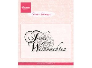 Marianne Design Transparent stamps Marianne Design, Text: Merry Christmas