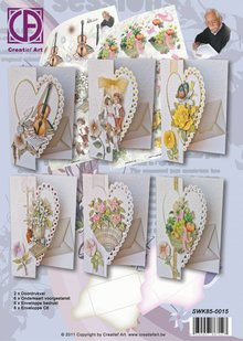 BASTELSETS / CRAFT KITS: Kit with heart cards